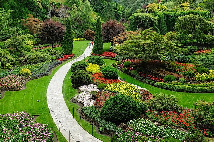 Beautiful gardens found in Victoria, British Columbia.