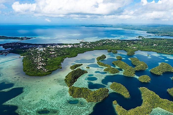 The landscape of Palau is vulnerable to rising sea levels as brought on by climate change.