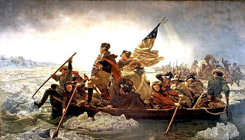 Image result for revolutionary war delaware river