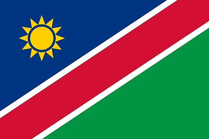 What Do The Colors And Symbols Of The Flag Of Namibia Mean?