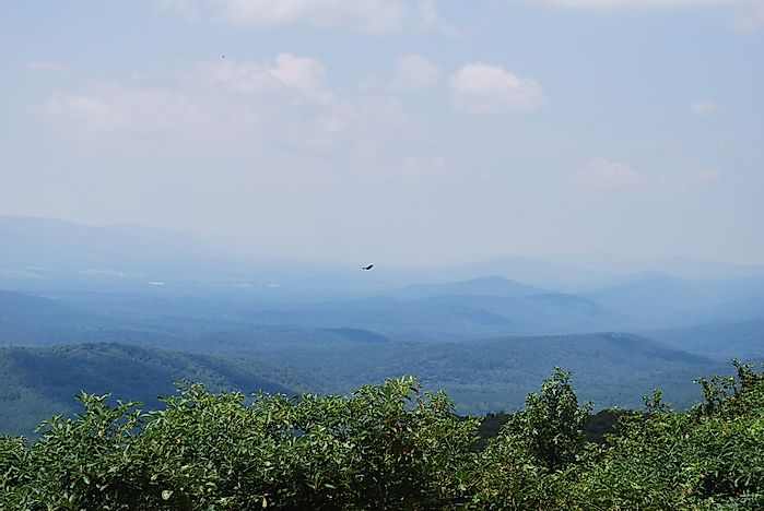 View of the Ouachita mountain range in west-central Arkansas.