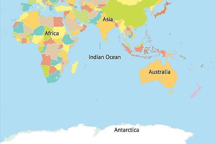 Which Continents Border The Indian Ocean?   WorldAtlas.com