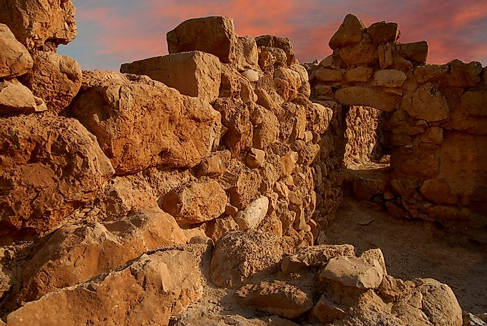 Ancient ruins of Qumran National Park.