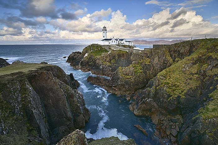A lighthouse in County Donegal.