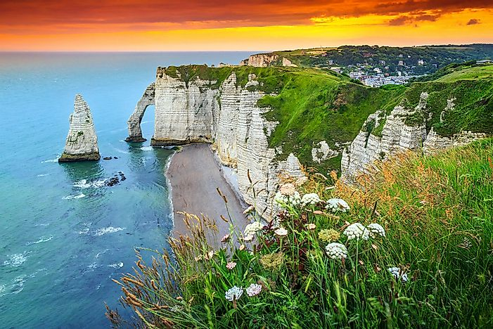 The coastline of Normandy.