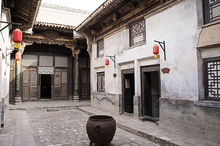 An ancient Siheyuan house in China.