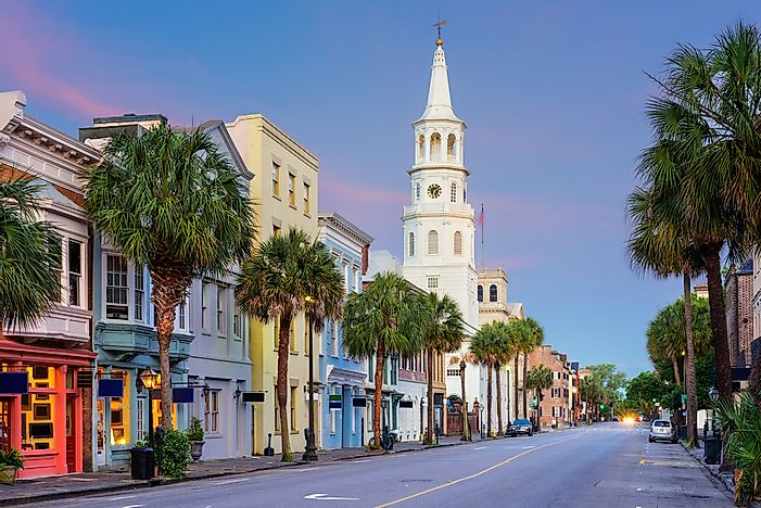 The French Quarter of Charleston, South Carolina.