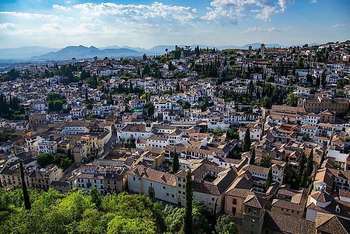 A panoramic view of Grenada, Spain.