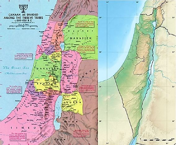 12 Tribes Of Israel Map What Were The Twelve Tribes Of Israel?   WorldAtlas.com