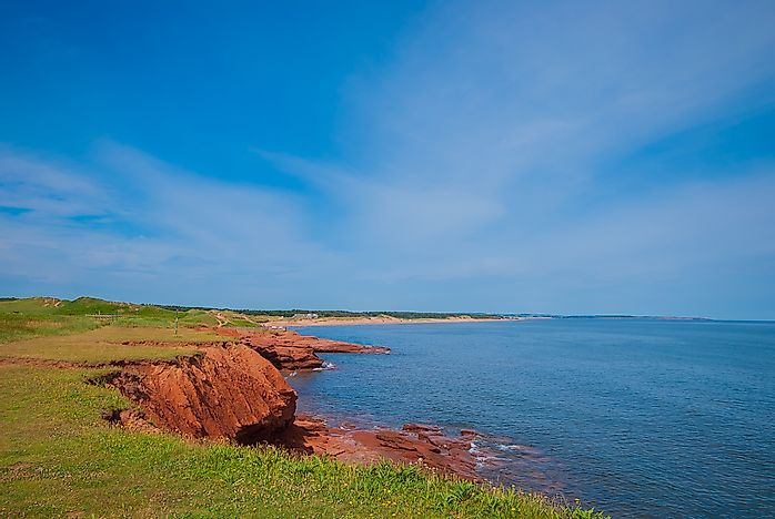#4 Relax on a red sand PEI beach