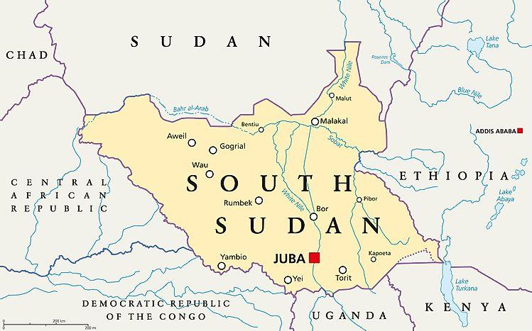 Which Countries Border South Sudan?   WorldAtlas.com