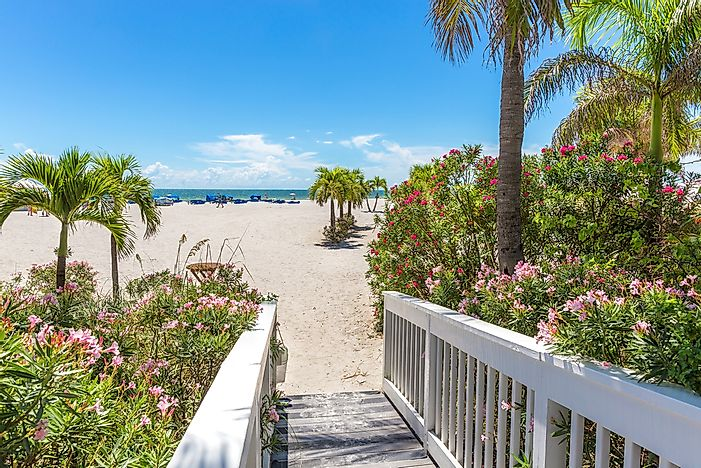 The beach leading to the gorgeous beachfront of St. Petersburg, Florida.