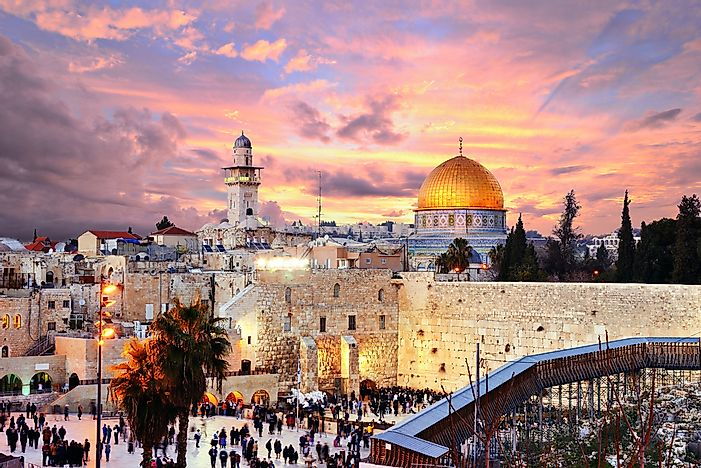 The ancient city of Jerusalem.