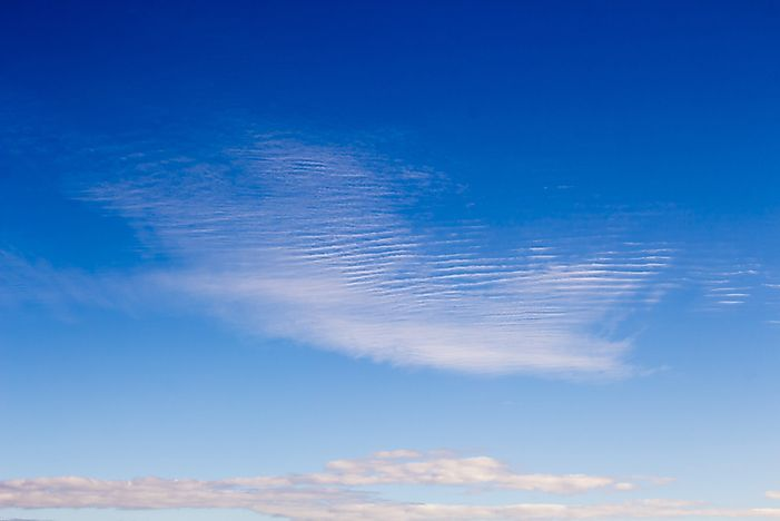 Cirrostratus are thin and wispy.