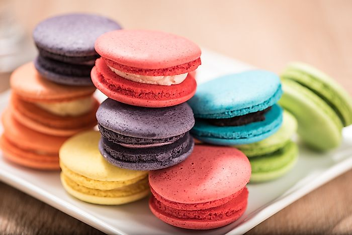 A selection of French macarons.