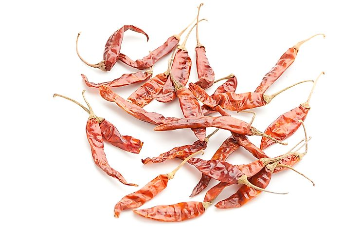 Dried Gunter chilli peppers.