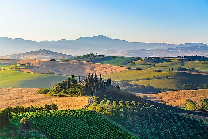 The landscape of Tuscany, Italy.