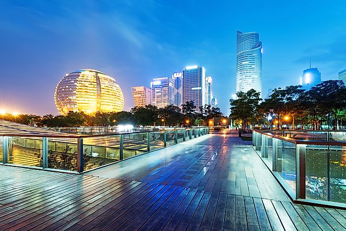 The cityscape of Hangzhou.