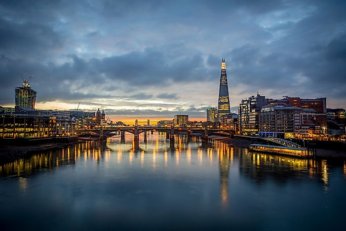 A view of London's skyline.