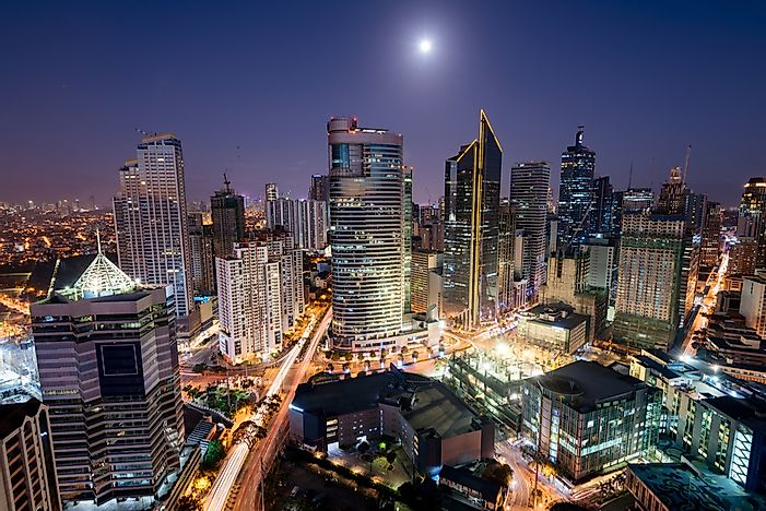 Manila, the Philippines. Manila has the tenth most skyscrapers in the world.