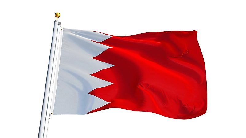 What Do The Colors And Symbols Of The Flag Of Bahrain Mean?