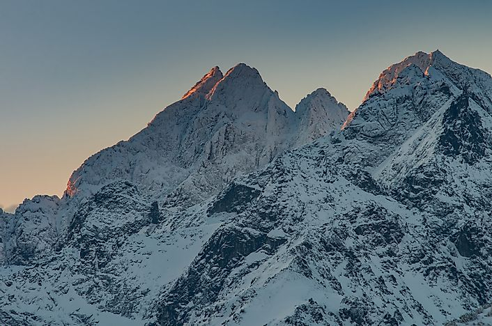 Mount Rysy of the High Tatras Mountains.