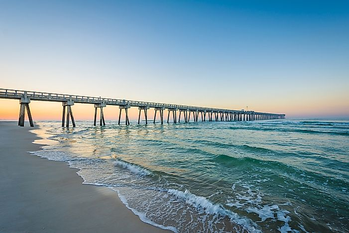 The pier at Panama City Beach, Florida.