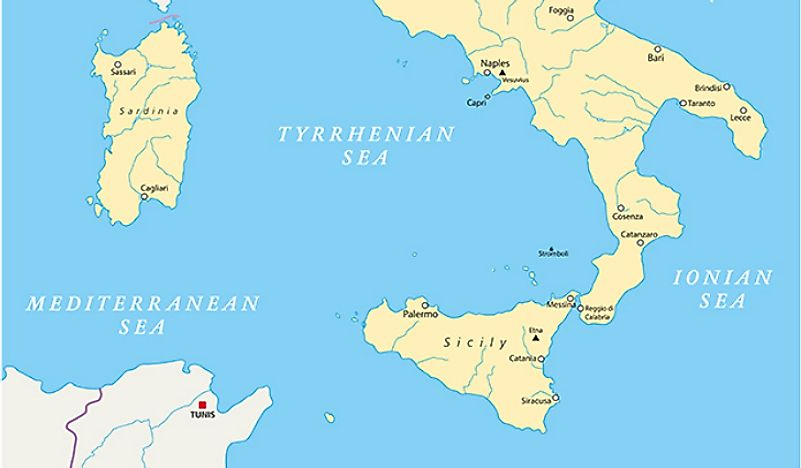 Map Of Italy And Islands.The Biggest Islands In Italy Worldatlas Com