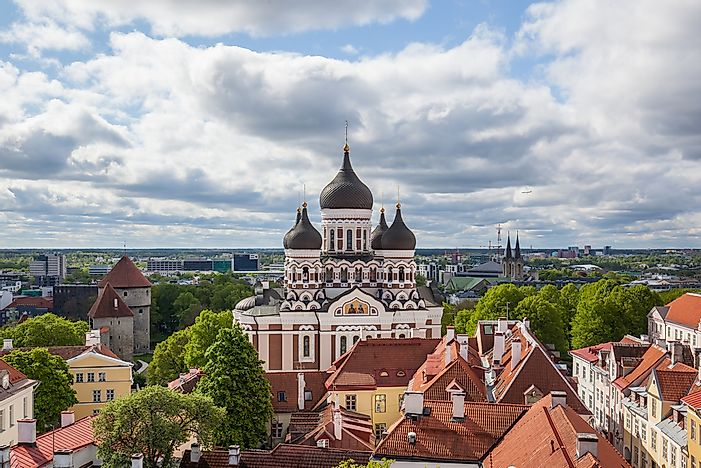 Alexander Nevsky Cathedral of Tallinn, Estonia.