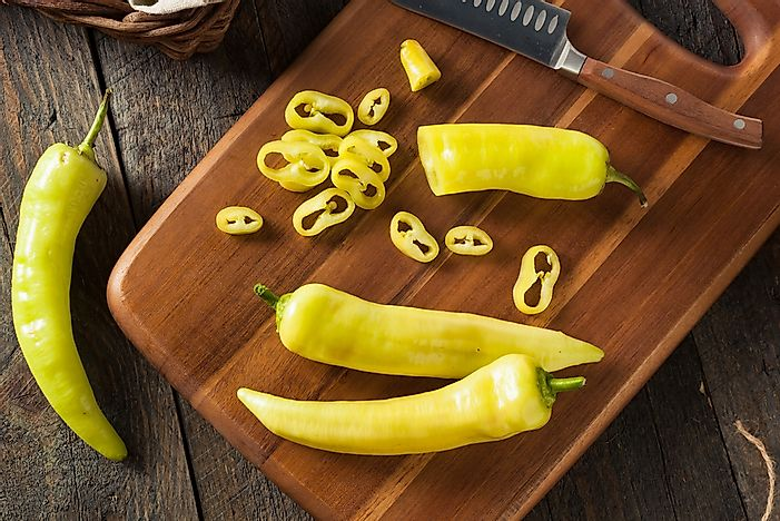 Yellow peppers receive mild ratings on the Scoville scale.
