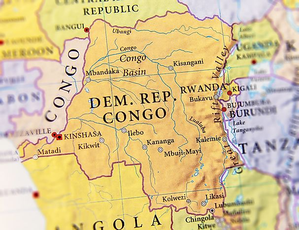 Which Countries Border The Democratic Republic Of The Congo ... on