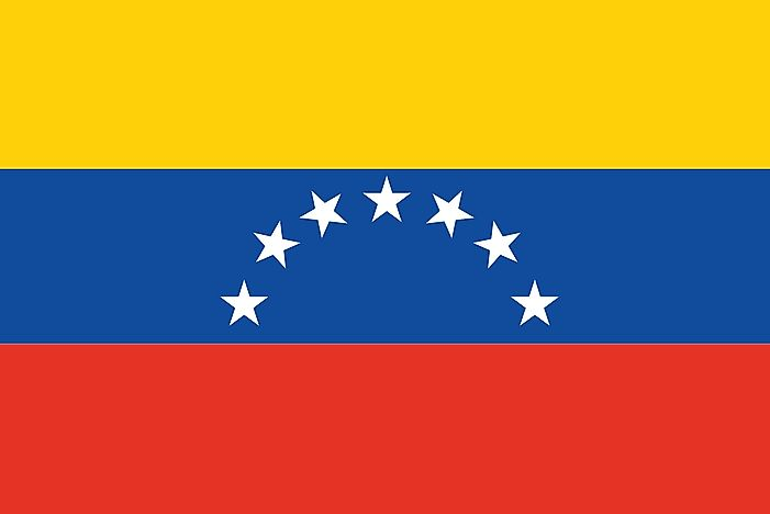 The flag of Venezuela formerly featured seven stars.