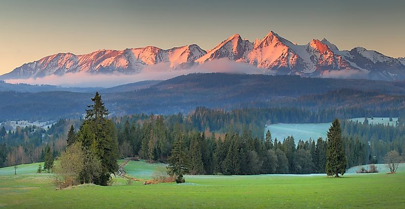Where Is The Tatra Mountain Range Located?