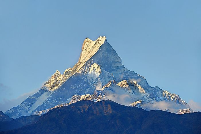 Mount Machhapuchhre in Nepal.