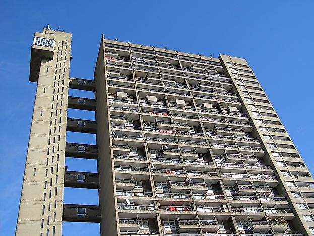 The Trellick Tower is a residential tower in London.