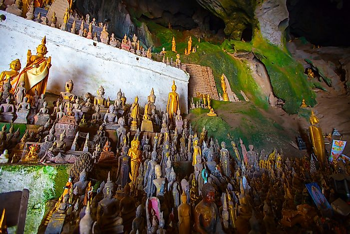 #5 Laos Has A Cave With Hundreds Of Ancient Buddha Sculptures