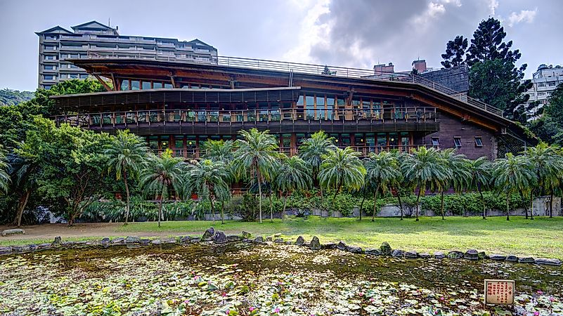 The Beitou Library in Taiwan.