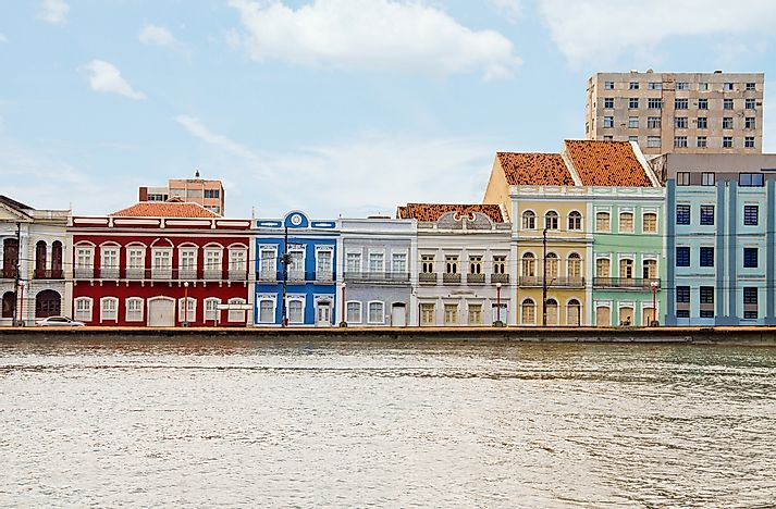 A street in Recife, Brazil.