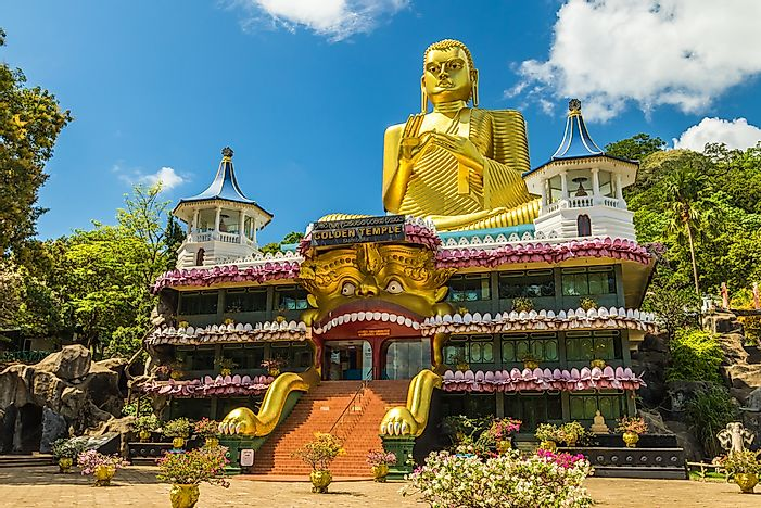 The Golden Temple in Dambulla, Sri Lanka.