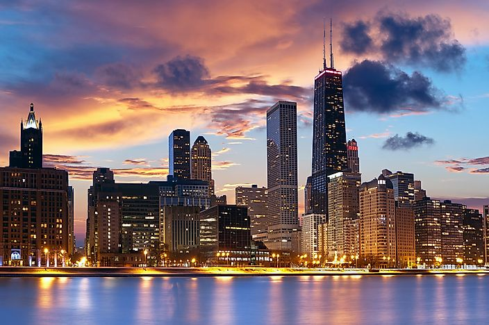 The Chicago skyline.