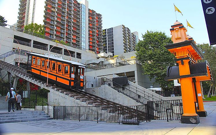 Angels Flight Los Angeles Worldatlas Com