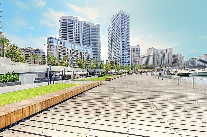 The marina in Beirut, Lebanon.