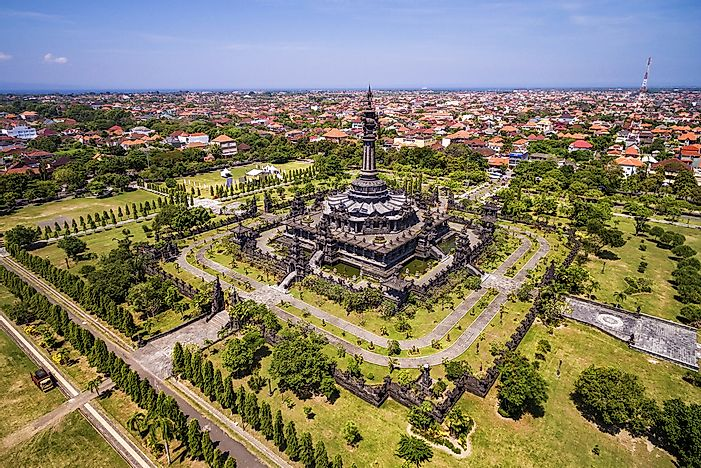The Bajra Sandhi Monument in Denpasar, Indonesia, on the island of Bali.