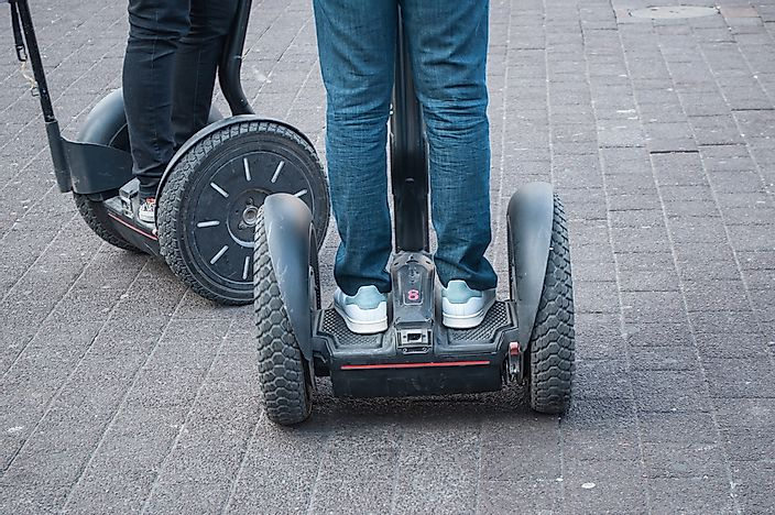 Segways in use.