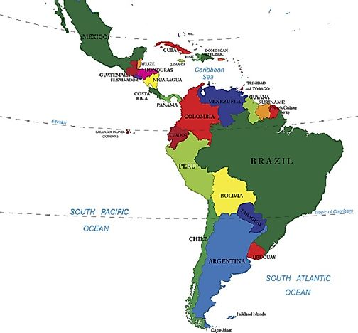 Countries that make up latin america worldatlas countries that make up latin america geopolitical map gumiabroncs Choice Image