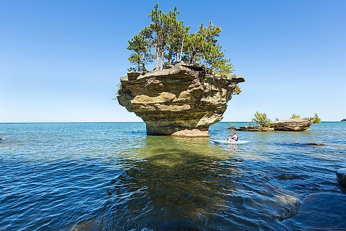 Which States Border Lake Huron?