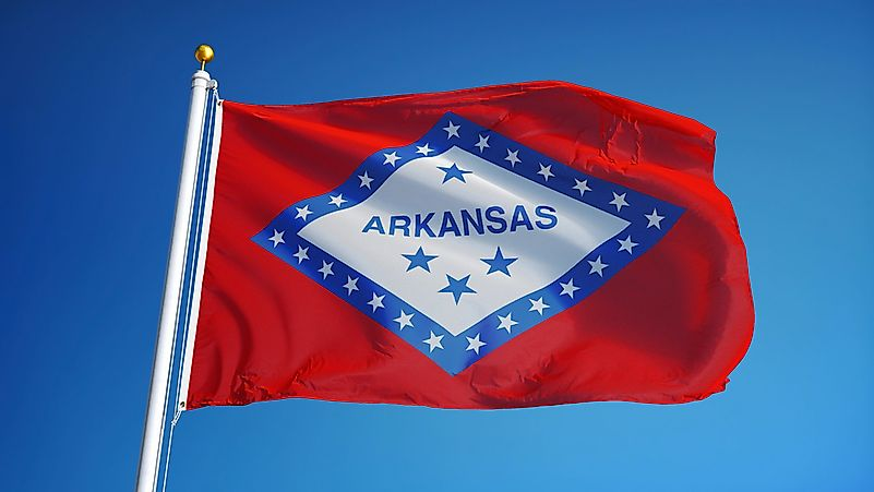 Arkansas State Flag Worldatlas