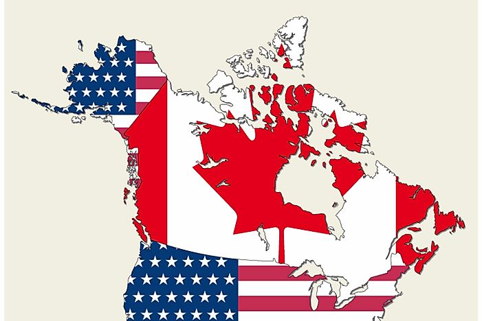 Is Canada Part of the US? - WorldAtlas.com on