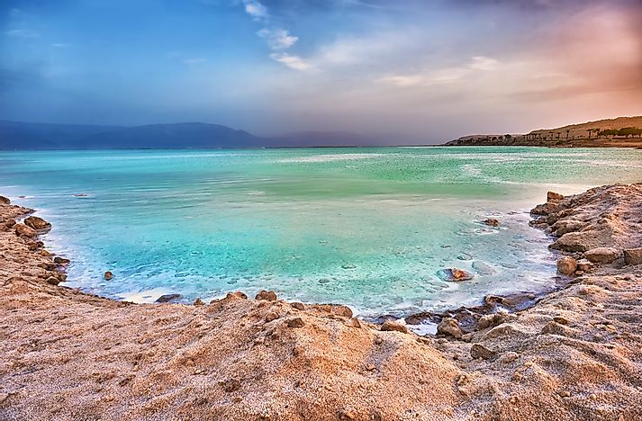The Dead Sea is the lowest point in Asia, and the world.