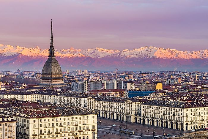 The city of Turin is in northern Italy.